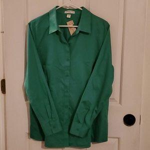 💚 NWT coldwater creek no iron button up shirt